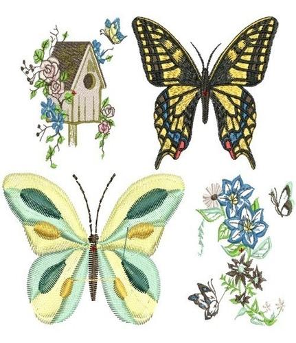 lindas borboletas - 50 matrizes de bordado comp - via email