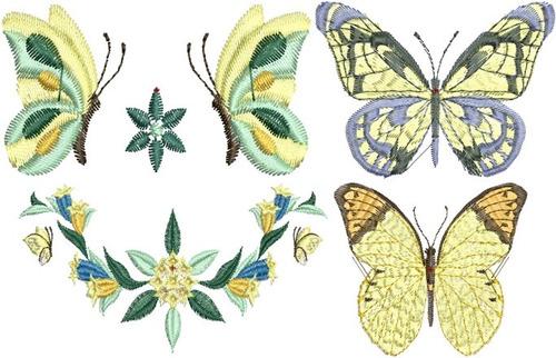 lindas borboletas - 50 matrizes de bordado computadorizado.