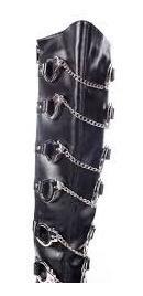lindas botas funtasma talla 36  negras usadas