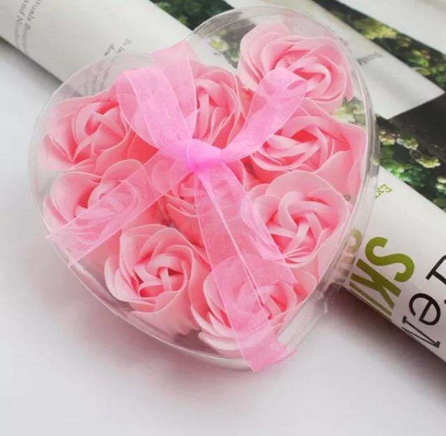 Lindas Flores De Jabon En Forma Y Aroma De Rosa 50 00 En Mercado