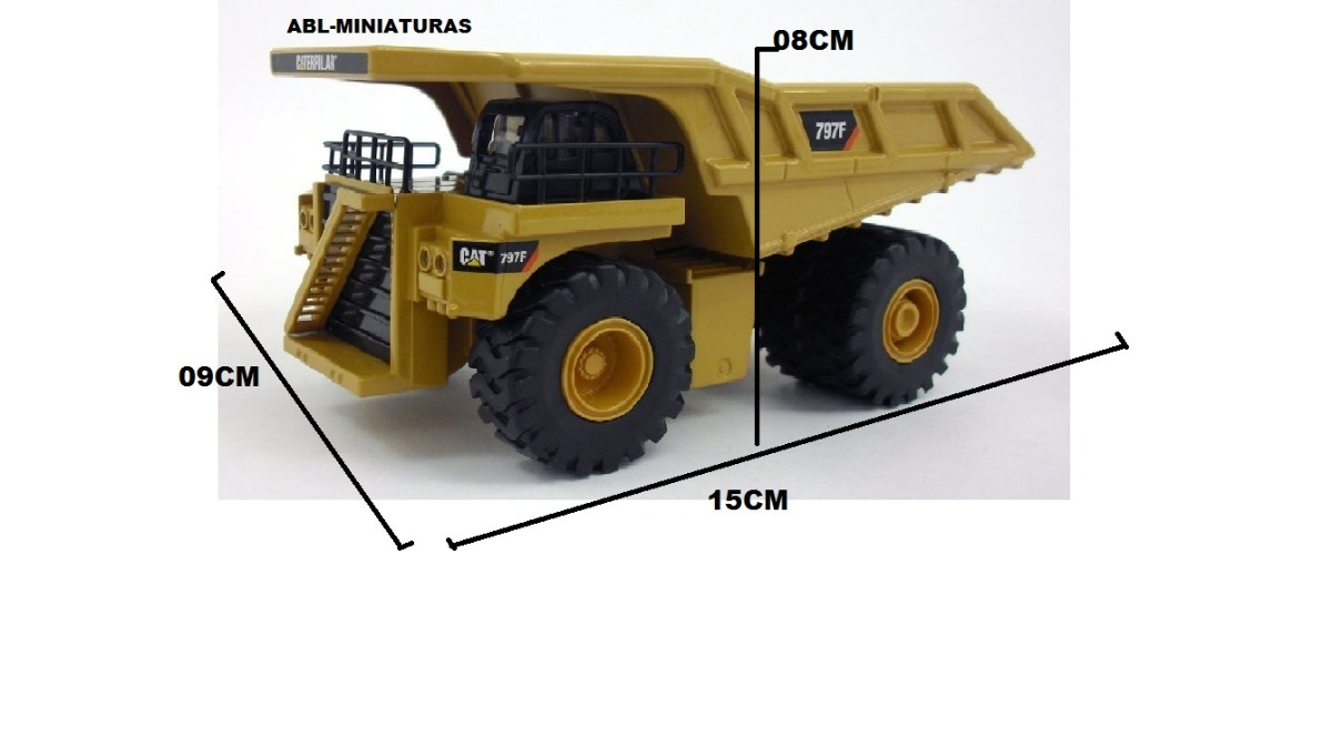 Lindas Miniaturas Caterpillar Kit Com 2 Fora De Estrada