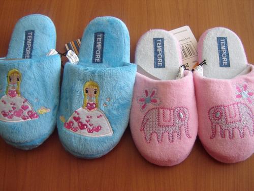 lindas pantuflas para niñitas, nuevas