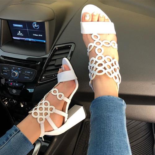 lindas sandalias de deep toe color blanco