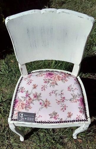 lindas y delicadas sillas antiguas shabby chic c/u