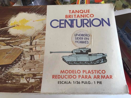 lindberg tanque británico centurion para armar escala 1/36