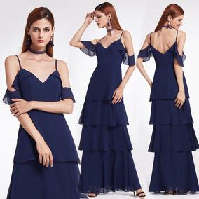 7036ccfaa Hermoso Vestido Fiesta Egresado - Vestidos de Fiesta de Mujer Azul ...