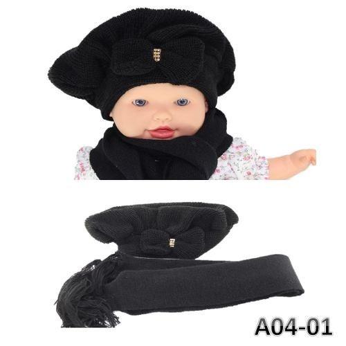 e2e5451b4dd7c Lindissima Boina Infantil Bebê Tipo Touca Crochê Com Laço - R  30