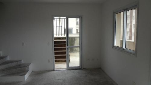 lindíssima cobertura duplex ensolarada e arejada localizada no centro de santo andré!!! - co0136