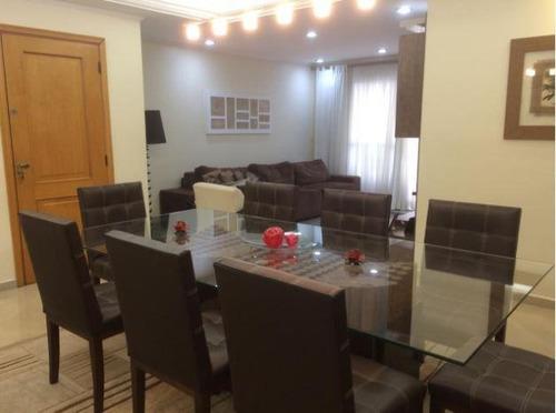 lindíssimo apartamento com planejados - 3 suítes e 3 vagas de garagem - centro - santo andré/sp. - ap1211