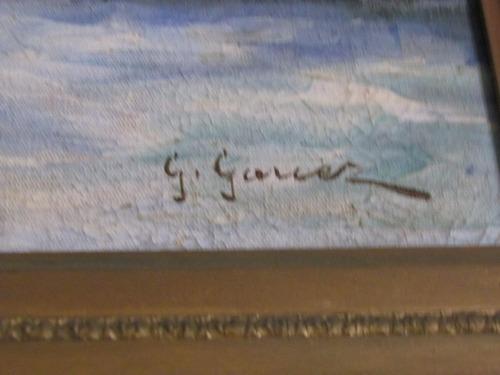 lindíssimo óleo sobre tela g. garcez - marinha