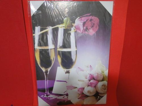 lindissimo  quadro taça vinho branco rosa adega uva videira