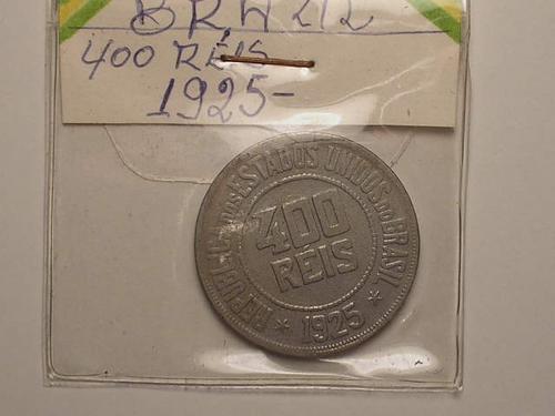lindo 400 rs. 1925 / busto / niquel / c6