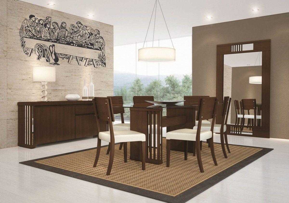 Lindo Adesivo De Parede Decorativo Santa Ceia Frete Gr Tis R 49  -> Adesivo Sala De Jantar