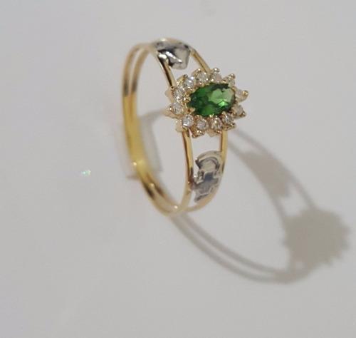 lindo anel de formatura feminino em ouro 18 k e frete gratis