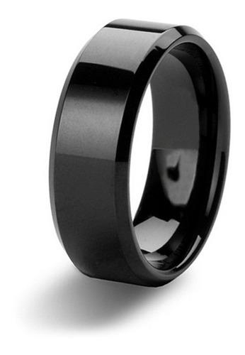 lindo anel em titânio preto
