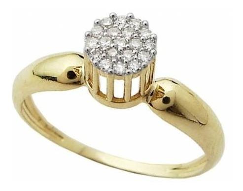 lindo anel feminino semi joia identico a ouro 18k