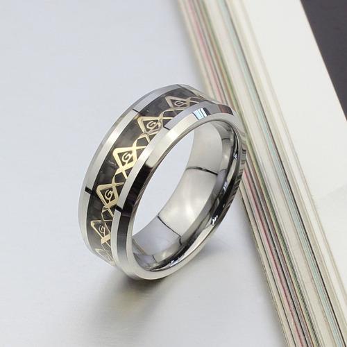 lindo anel masculino maçonaria maçom maçônico tungstênio