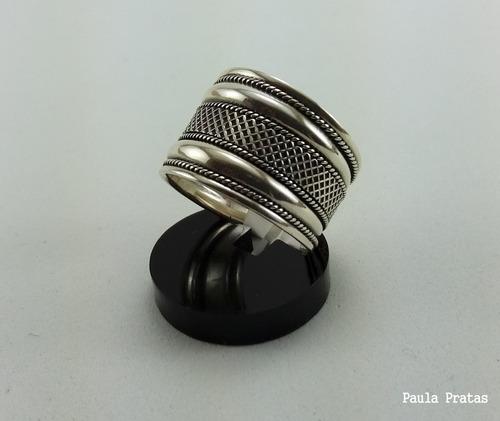 lindo anel prata 925 envelhecida