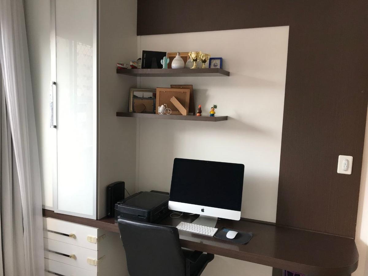 lindo apartamento 03 quartos suite, todo montado, semi-novo,, 02 vagas. - 2841