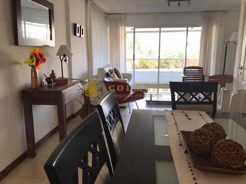 lindo apartamento a metros de la playa brava - ref: 514