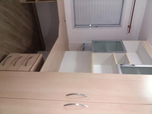 lindo apartamento c/2 dormitórios, sendo uma 1. marcia 80136