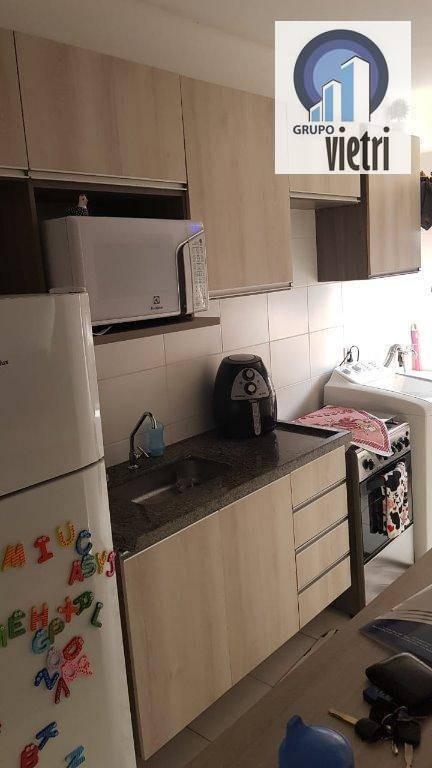 lindo apartamento com 2 dormitórios com armários planejados em excelente acabamento com área de lazer, quadra poli esportiva, churrasqueiras, play gro - ap4098