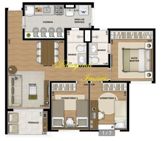 lindo apartamento com 3 dorms - v. pirajussara. ref 78843