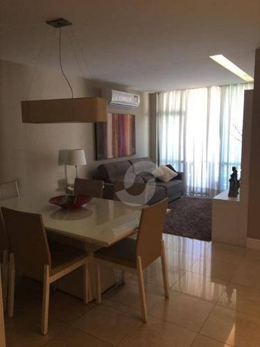 lindo apartamento localização privilegiada do jardim icaraí,3 quartos, 1 ste, varandão, sala ampla, copa coz., dec, 1 vaga. - ap5480