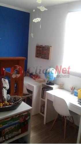 lindo apartamento localizado no bairro pauliceia com 69 m2, 3 dormitórios, sendo 1 suíte, 1 vaga. - 5128