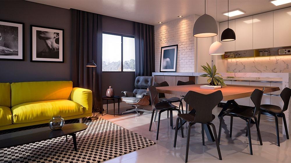 lindo apartamento no bairro glória | 01 suíte + 02 dormitórios | 02 vagas de garagem - sa01091 - 34491642