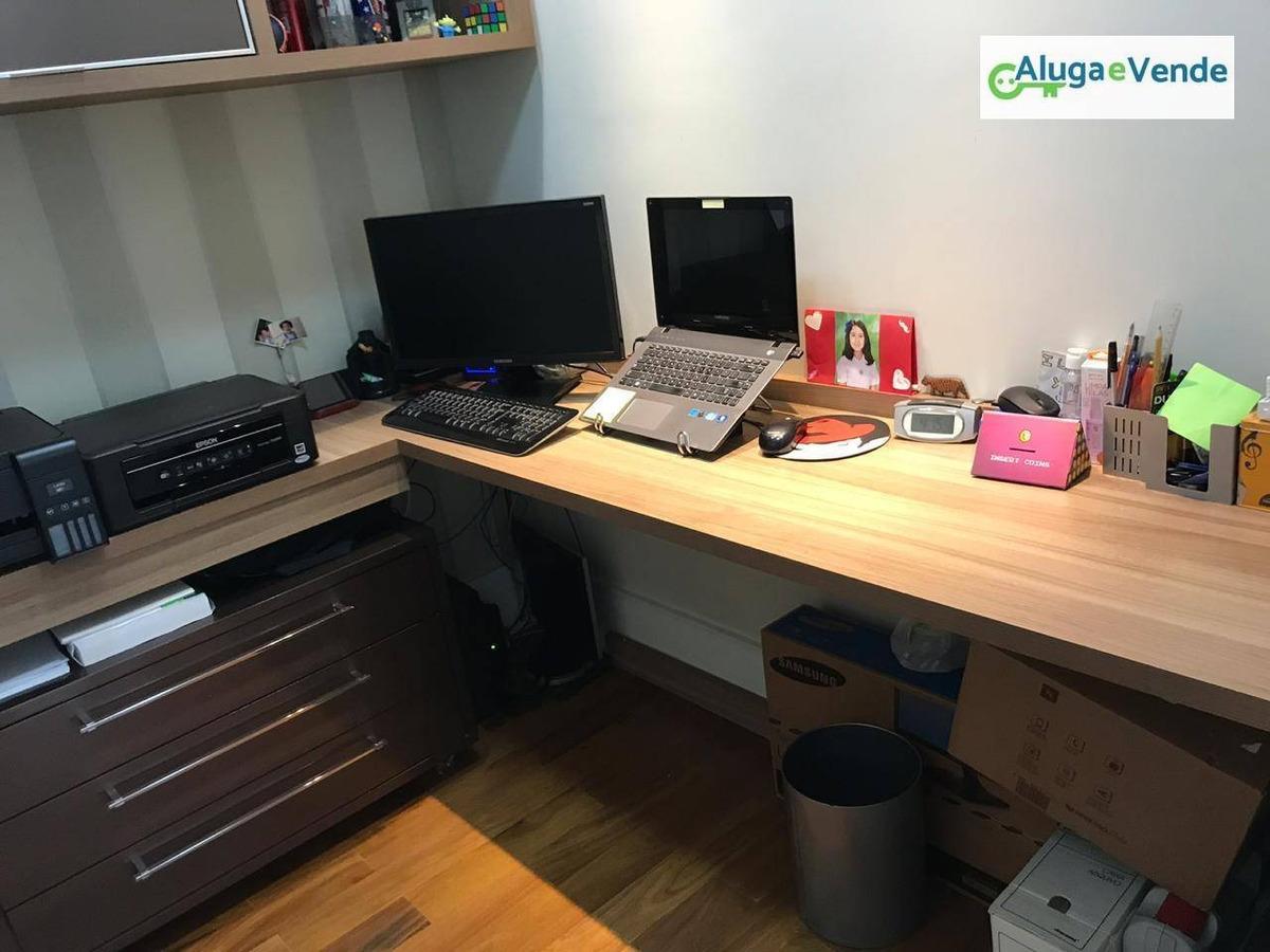 lindo apartamento no condomínio parque clube, 134 m², 3 suítes e 3 vagas de garagem em guarulhos / vila augusta - ap0151