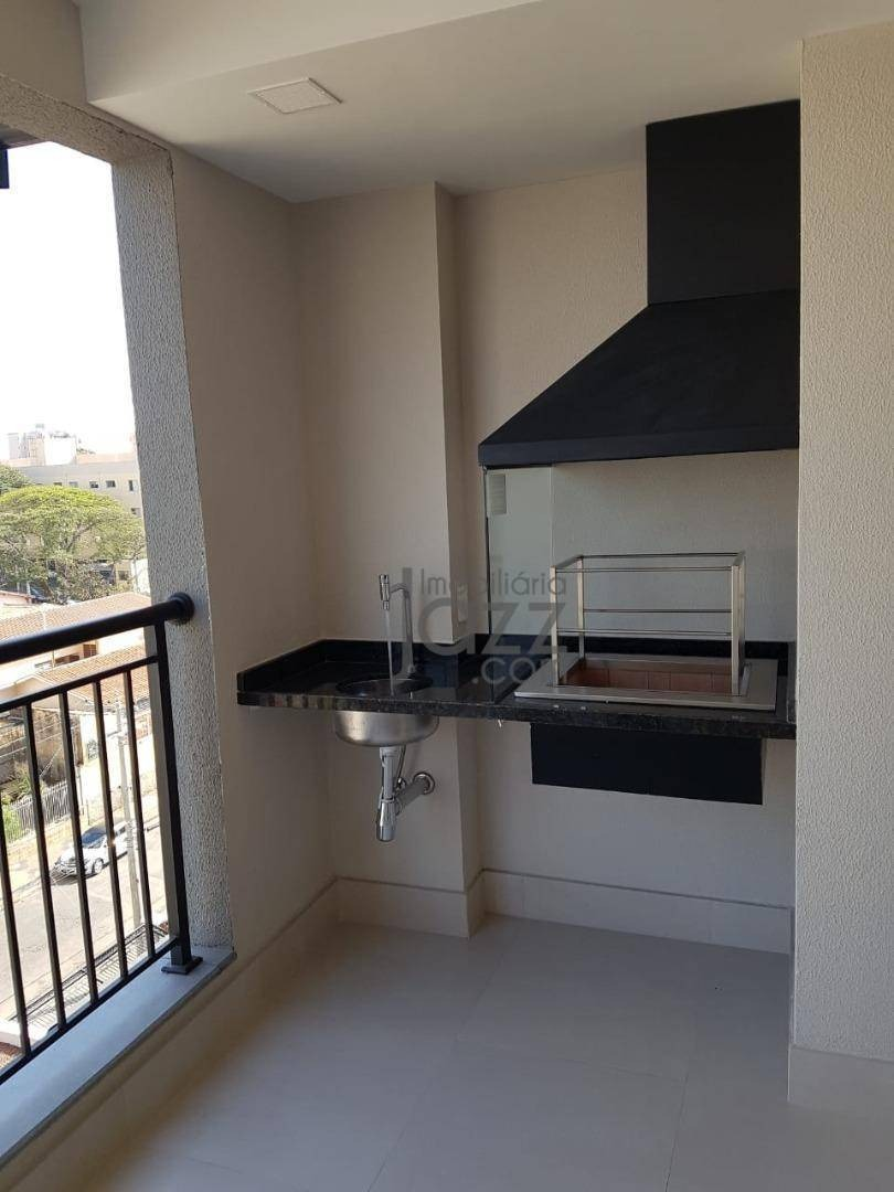 lindo apartamento no taquaral em campinas, com 2 dormitórios sendo 1 suite, 2 vagas de garagem e varanda gourmet ! - ap3196