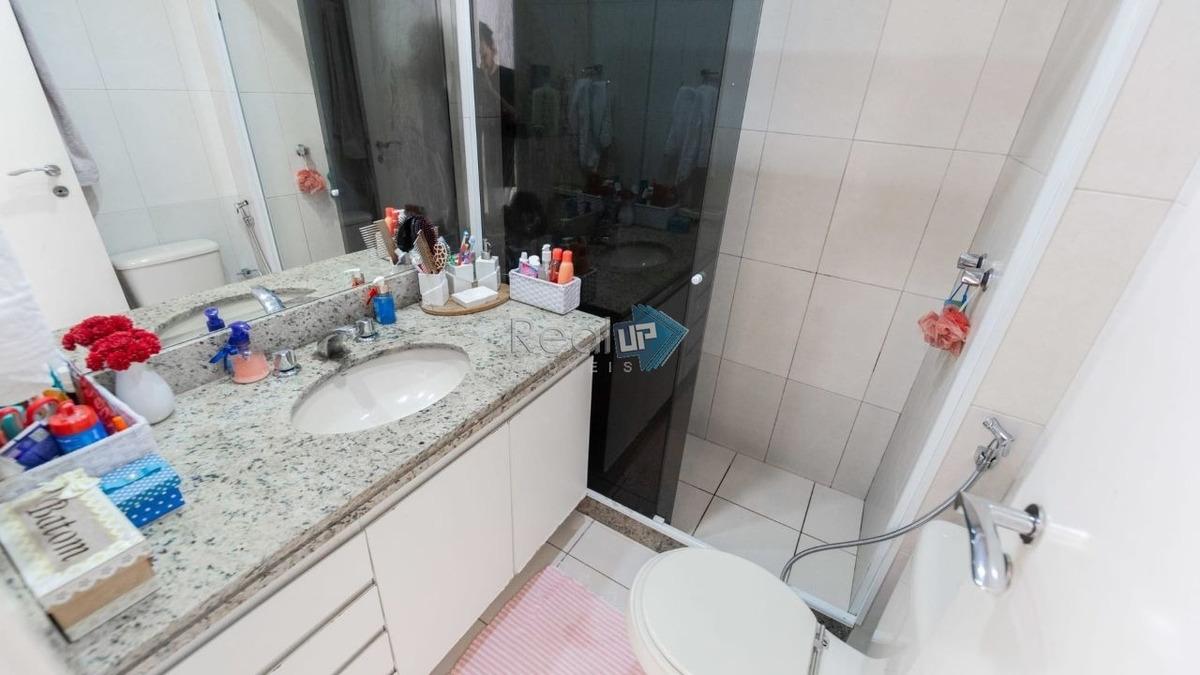 lindo apartamento todo reformado 144m2 no humaitá - 18397