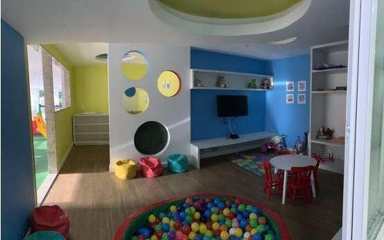lindo apto, mobiliado, frente, vrdão, sala, 2 qtos, suíte, banho, lavabo, copa coz, área, 1 vaga, play clube. - ap5642
