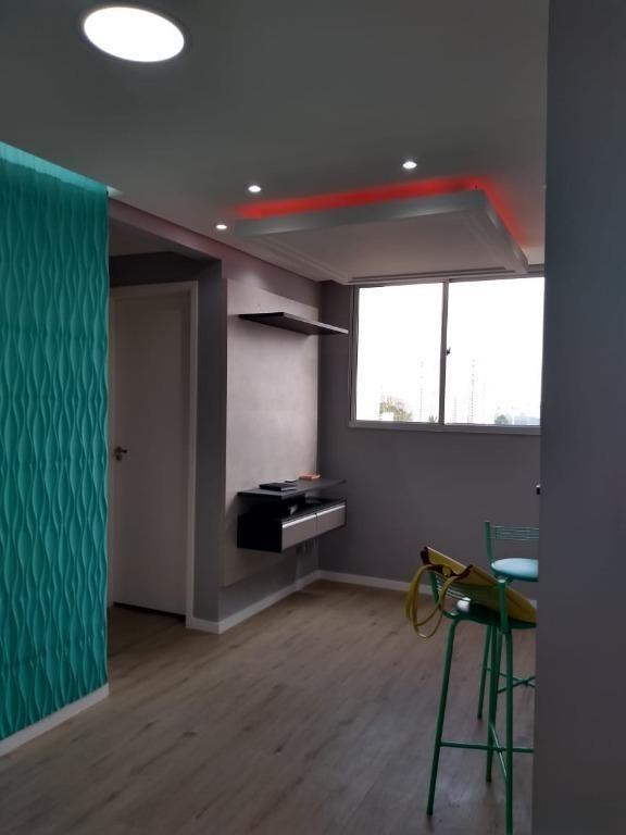 lindo apto vila augusta - 45 m² - 2 dormts e 1 vaga - condomínio spazio santa bárbara guarulhos - ap0148