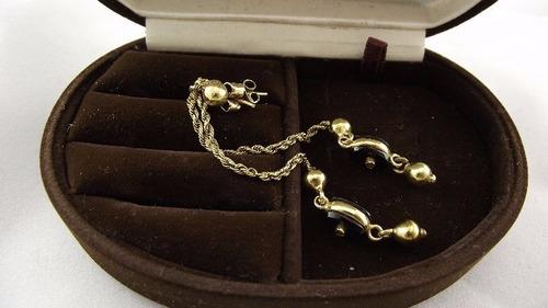 lindo brinco modelo italiano ouro,onix e diamantes ouro 18k
