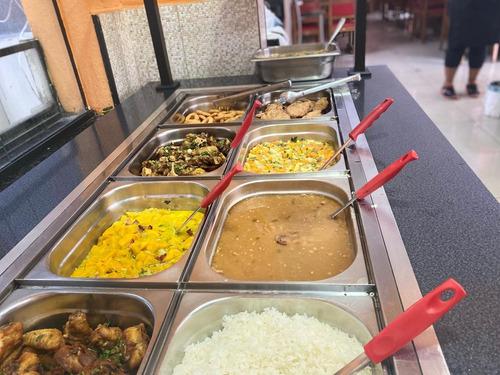 lindo buffet self service 1 de 8 cubas ,6 cubas e pista fria