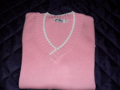 lindo buzo hilo rosado y blanco dama talle l-unifit