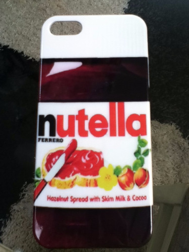lindo case para iphone 5/5s nutella