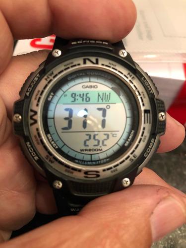 lindo casio sgw-100 bússola e termômetro com hora mundial