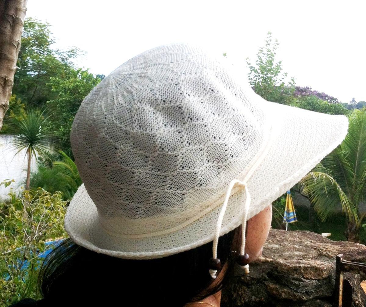 9a9c562cd2f48 lindo chapéu de praia verão poliester bege flores pequeno. Carregando zoom.
