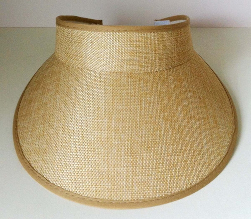 lindo chapéu viseira de praia verão igual juju salimeni bege