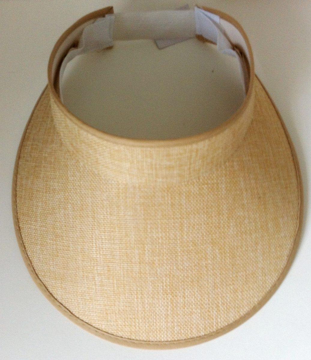 0348c5e3df25d lindo chapéu viseira de praia verão igual juju salimeni bege. Carregando  zoom.