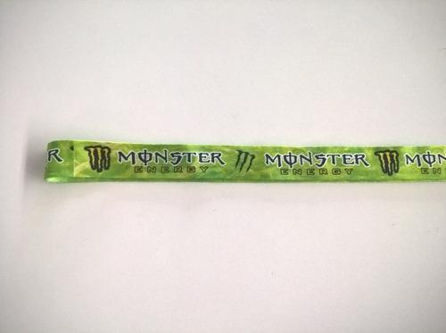 lindo chaveiro cordão 50 cm marca da monster energy drink