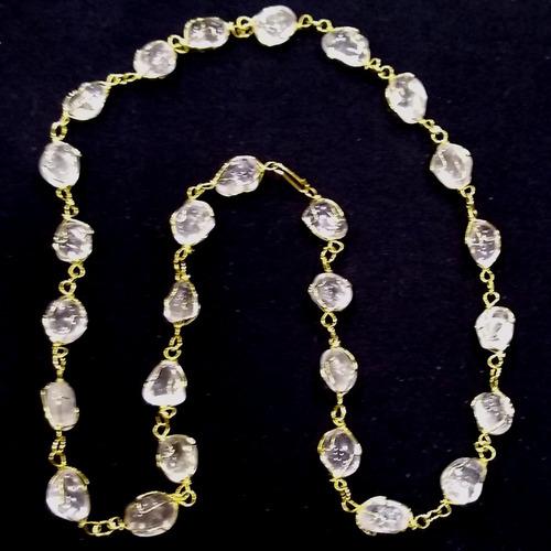 lindo colar c cristal de quartzo pedras brasileiras naturais