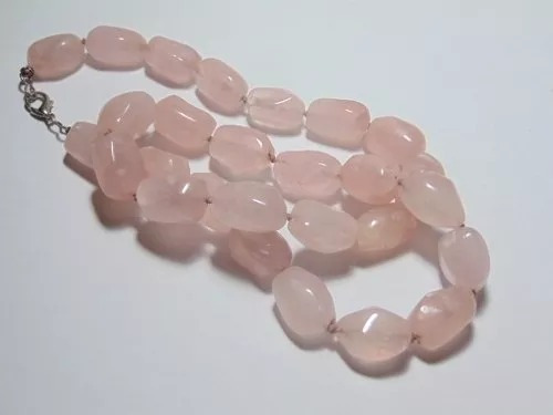 lindo colar de quartz roza lindo natural 129g