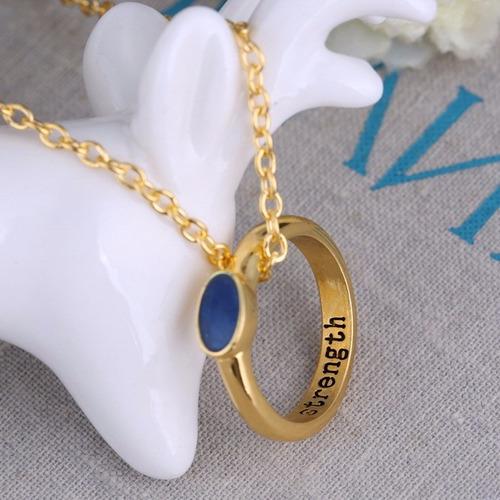 lindo colar encanto - pedra azul - elegante