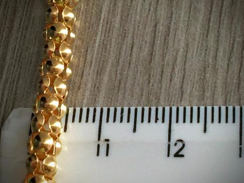 lindo colar ouro 18k (750)-18.1gr.-40cm.