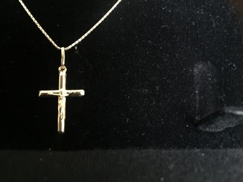 lindo colar ouro com pingente crucifixo, de joalheria!!