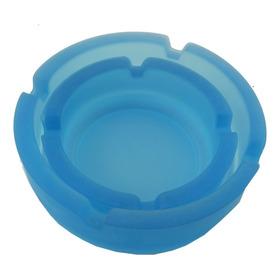 Lindo Conjunto Com 2 Cinzeiro Azul Fosco Jateado A1735